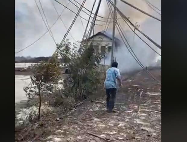 ข่าวด่วน !! ท่อแก๊สระเบิด นิคมอุตสาหกรรม อ.บางบ่อ